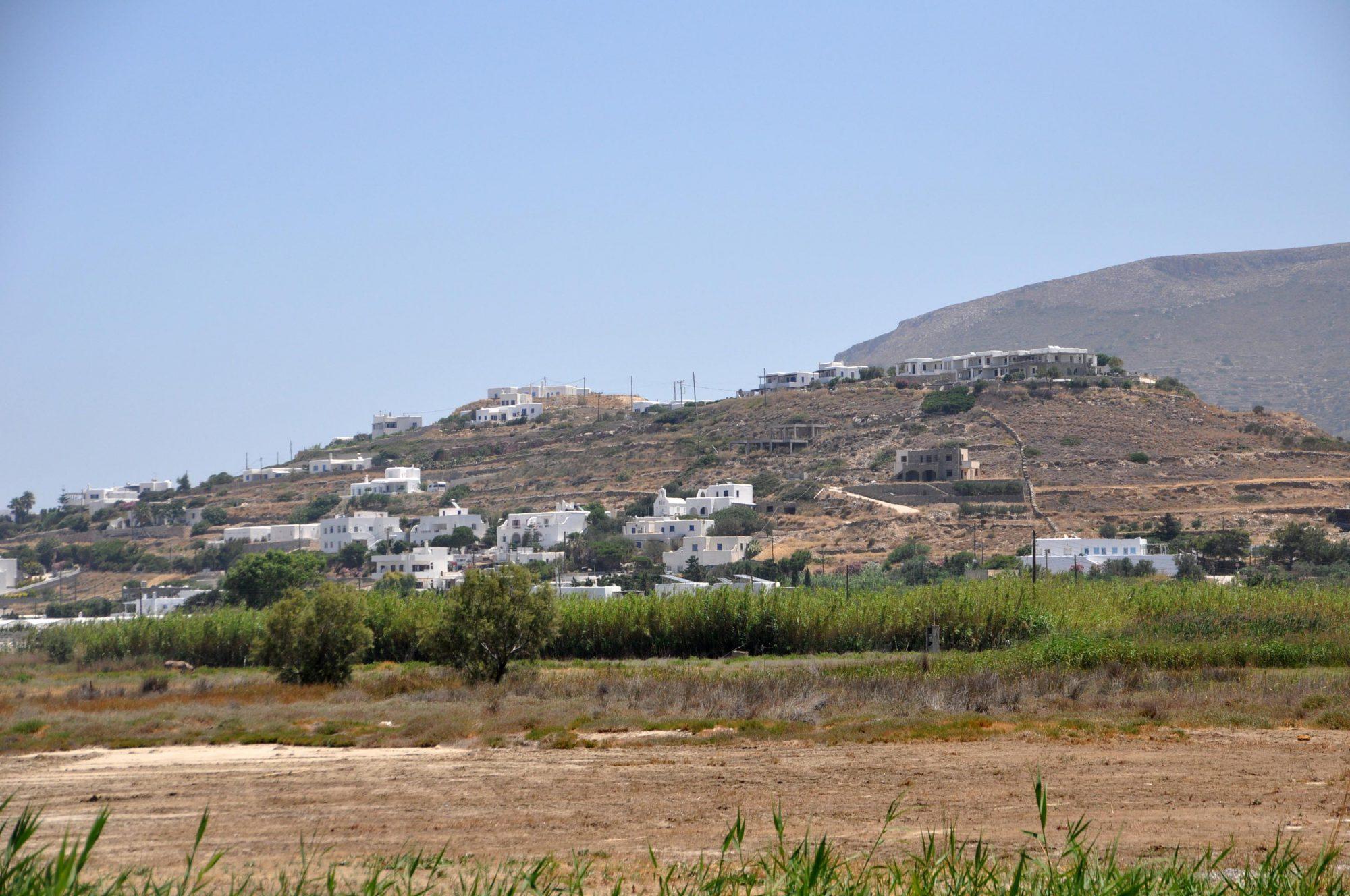 Witte huizen Paros