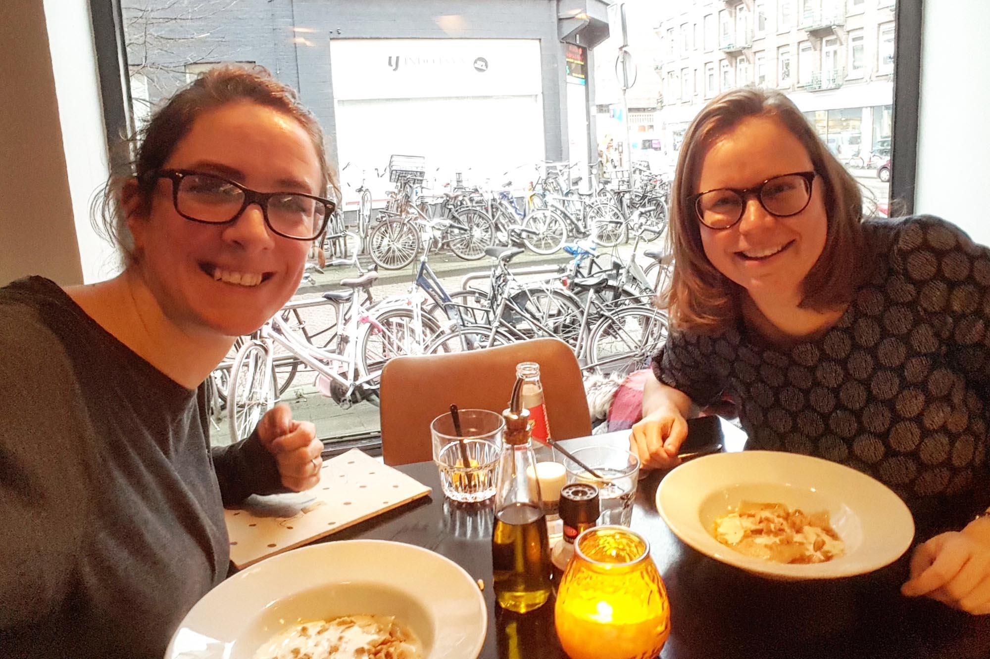 Lunchen met Saskia Balmaekers