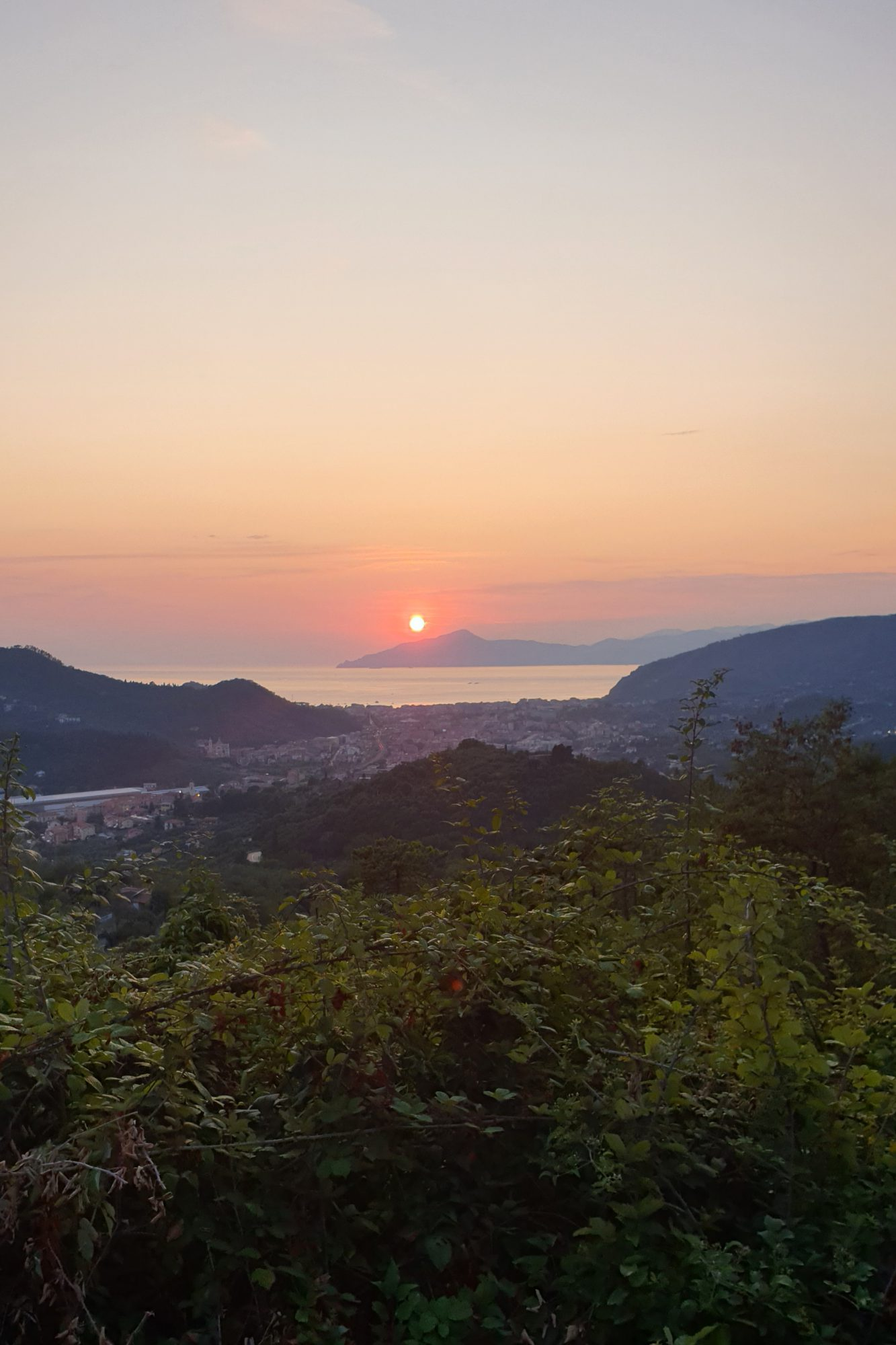 Zonsondergang Sestri Levante